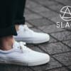 """これからの季節に大活躍する夏の定番、""""白いキャンバス・スニーカー""""に新ブランド「SLACK FOOTWEAR」のアイテムが仲間入り"""